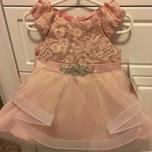 Rare Editions Dresses - NWT Blush Rare Editions dress, size 12 months.
